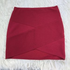 Forever 21 Textured Stretch Bodycon Mini Skirt